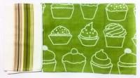 Barkat Deccan Mood Kitchen Towels Set Of 2 Cloth Napkins (Green)