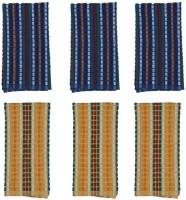 Cotonex Yellow, Blue Set Of 6 Napkins