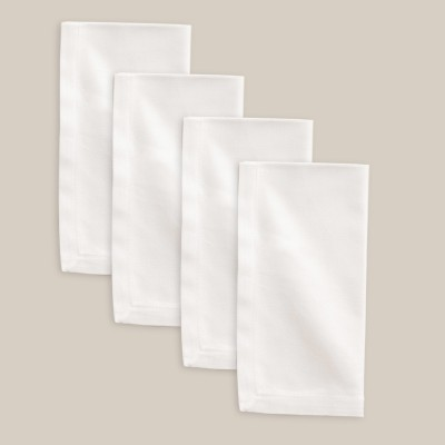 Smart Home Textile White Set Of 4 Napkins