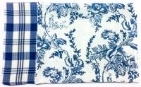 Barkat Deccan Mood Kitchen Towels Set Of 2 Cloth Napkins (Blue)