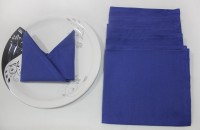 R Home Blue Set Of 6 Napkins