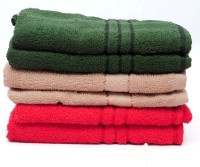 The Home Story Green, Brown, Red Set Of 6 Napkins