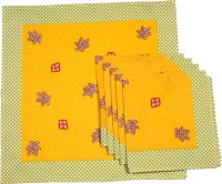 Chromatic Collections ANNA PAISLEY-6-A Set Of 6 Napkins Yellow