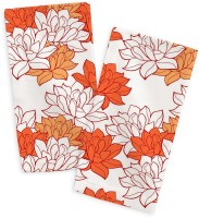 Smart Home Textile Orange, White Set Of 2 Napkins