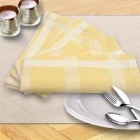 Milano Home Yellow Set Of 4 Napkins