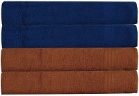 Rr Textile House Dark Blue, Brown Set Of 4 Napkins
