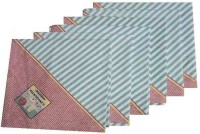 Amita Home Furnishing Queen Victoria Set Of 6 Napkins Blue, Pink