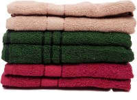 The Home Story Brown, Green, Maroon Set Of 6 Napkins - NAPEBZFYWBKJPYRR