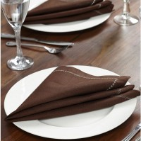 At Home Bliss Living Set Of 2 Cloth Napkins (Dark Green)