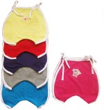 Cherish Maternity Pack of 6 Cute Rompers in Assorted Colours with White Piping