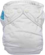 Charlie Banana White Bellywrap Reusable Diaper with Inserts Free
