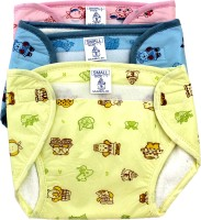Super Baby New Just Born Inside 100% Cotton Terry ,Outside Printed PVC Washable Reusable Padded Cushioned Diaper/Langot With Velcro (0-3 Months)