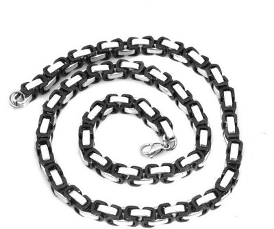 Vaishnavi First Quality Korean Made Non-Allergic Two Tone Beautiful Neck 316L Surgical Stainless Steel Chain