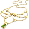 Caratlane Linked Bloom Gold Necklace