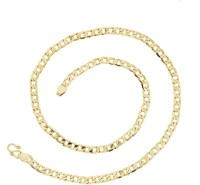 The Jewelbox Classic Yellow Gold Plated Brass Chain