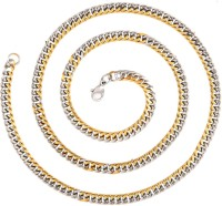 The Jewelbox Curb Yellow Gold Plated Stainless Steel Chain
