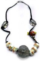 Beautywear Metal, Ceramic, Glass Necklace