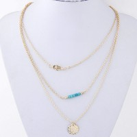 Cinderella Fashion Jewelry Multilayer Dainty Alloy Necklace