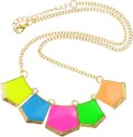 Diovanni Metal, Alloy, Enamel Necklace - NKCDUEHC6EJDJ9RM