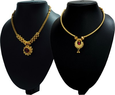 ef36e9bdc83 Womens Trendz Crystal Yellow Gold Plated Alloy Necklace Set for Rs. 755 at  Flipkart