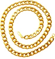 Bajya Golden Thick Brass, Alloy, Metal Alloy Chain