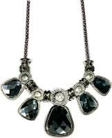VML Silver And Black Necklase Alloy Necklace