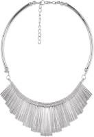 Stol'n Longline Bar Silver Alloy Necklace