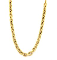 The Jewelbox Italian Rope Yellow Gold Plated Stainless Steel Chain