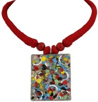 Crunchy Fashion Indian Haritage Square Alloy Necklace