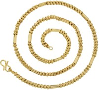 The Jewelbox 3d Ball Yellow Gold Plated Brass Chain