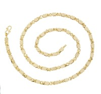 The Jewelbox Designer Button Yellow Gold Plated Brass Chain