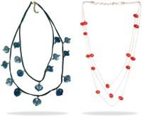 Beadworks Alloy, Glass, Acrylic Necklace Set