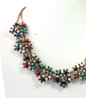 Vinnis Stunning Antique Finish Alloy, Acrylic Necklace