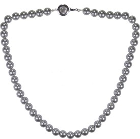 Pearl Paradise Beige Design Alloy Necklace