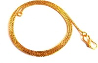 Khushal Golden Alloy Chain Alloy Necklace
