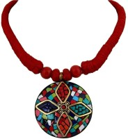 Crunchy Fashion Indian Haritage Round Alloy Necklace