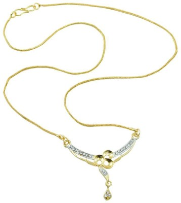 Aakshi Drop Of Golden Flower Alloy Necklace