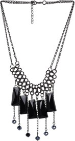 Stol'n Black Triange Beaded Alloy Necklace