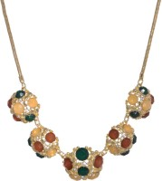 Sparkle Street Colour Pop Alloy, Glass Necklace