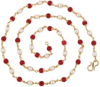 The Jewelbox Mala Pearl Yellow Gold Plated Copper Chain