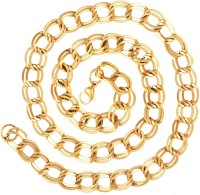 The Jewelbox Italian Broad Yellow Gold Plated Brass Chain