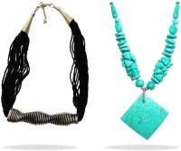 Beadworks Alloy, Glass, Porcelain Necklace Set