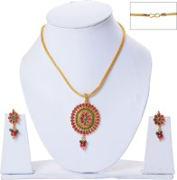 Jewelina Gems Metal Necklace Set