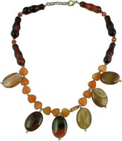 The Fine World A Striking Made Of In Different Shades And Sizes Zircon Enamel Plated Stone Necklace