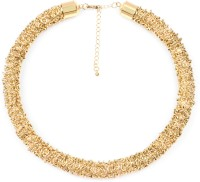 Johareez 153.50 Grams Gold Plated Brass Necklace Yellow Gold Plated Brass Necklace