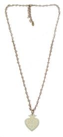 Homefoster Yellow Gold Plated Brass Necklace