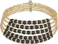 Crunchy Fashion Black Beads Choker Alloy Choker
