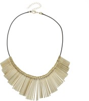 Golden Peacock Gold Plated Tassel 18K Yellow Gold Plated Alloy Necklace