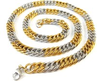 Ammvi Creations 23.5'' Two-Tone Thick & Broad For Men Stainless Steel Chain