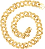 The Jewelbox Italian Broad Yellow Gold Plated Brass Chain - NKCEBZXBSTGDFTFE